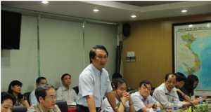 Đ/c Nguyễn Hữu Thắng – Chủ tịch HĐTV TCT phát biểu tại buổi gặp mặt