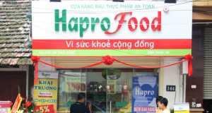 Khai trương 2 cửa hàng rau, thực phẩm an toàn Haprofood 30 Lò Đúc và 144 Thụy Khuê