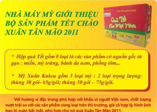 Nhà máy mỳ giới thiệu bộ sản phẩm tết chào xuân Tân Mão 2011