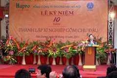 Lễ kỷ niệm 10 năm thành lập XN gốm Chu Đậu