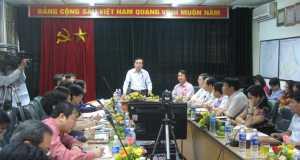 Phó Chủ tịch UBND TP Nguyễn Huy Tưởng cùng các sở, ngành làm việc với Tổng công ty Thương mại Hà Nội